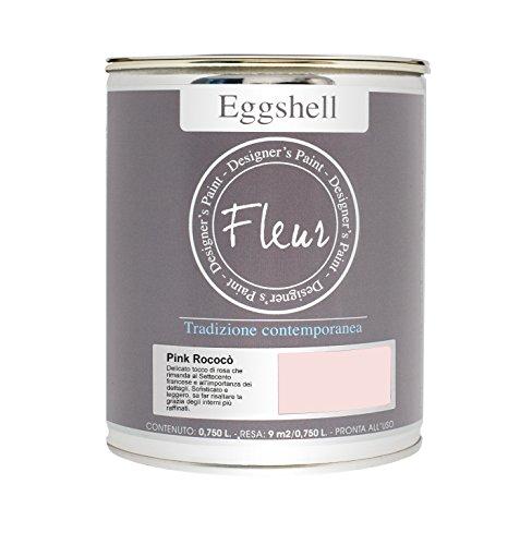 Fleur designer' S Paint Fleur Eggshell Nagellack Satin hochfestem für Möbel und große Flächen–0.75L–Pink Rococo Nagellack Designer