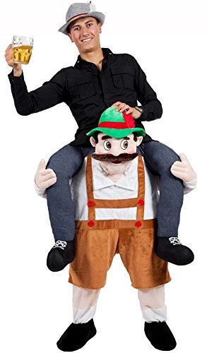 BAVARIAN BEER GUY CARRY ME MASCOT FANCY DRESS COSTUME (Huckepack Fancy Dress Kostüm)