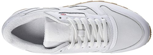 Reebok Classic Leather Estl, Scarpe da Ginnastica Basse Uomo Bianco (White)