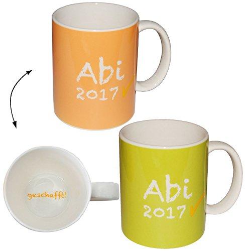 alles-meine.de GmbH Kaffeetasse -  Abi 2017 - Innendruck: Geschafft !  - Grün - groß - 380 ml - ..