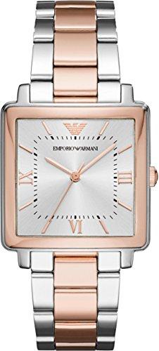 Emporio Armani Damen-Armbanduhr Quarz One Size, silber, silberfarben
