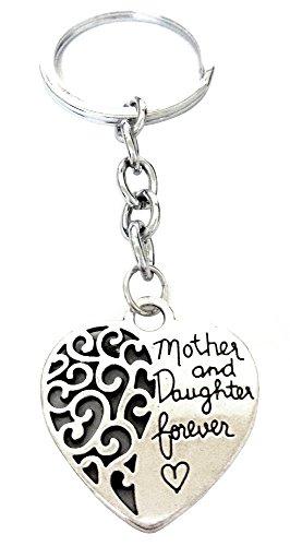 Colgante llavero con un corazón con la inscripción - Madre e hija para siempre? - (Madre e hija para siempre?) Idea del regalo para la mujer del hombre