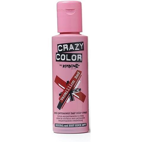 Crazy Color Vermillon Red Nº 40 Crema Colorante del Cabello Semi-permanente