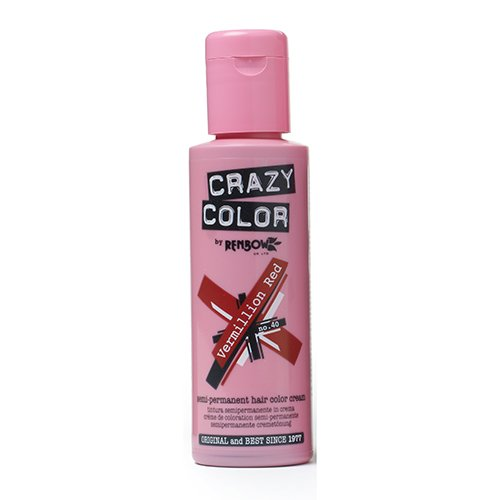 Renbow Crazy Color Semi-Permanent Hair Color Dye vermillion red 40-100 ml, 1er pack (1 x 115 g) - Semi-permanente Haar-creme