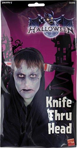 Smiffys, Unisex Messer durch den Kopf Haarreif, One Size, 00495