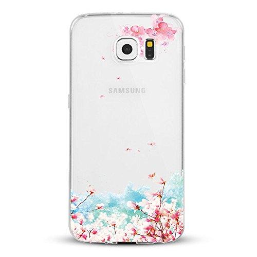 Coque Galaxy S6 Vanki® Ultra Hybrid Coussin d'air TPU Absorption de Choc Ajustement Parfait Etui Silicone Souple Coque Pour Samsung Galaxy S6 6