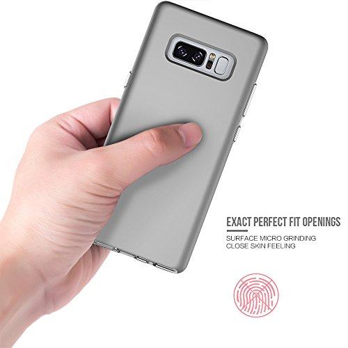 EKINHUI Case Cover Ultra Thin Lightweight Dual Layer 2 in 1 PC und TPU Schutzhülle für Samsung Galaxy Note 8 ( Color : Rosegold ) Gray