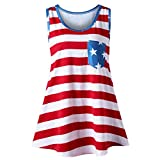 Lialber Save 15% Womens American Independence Day Ladies Chest Pocket FLA Long Top