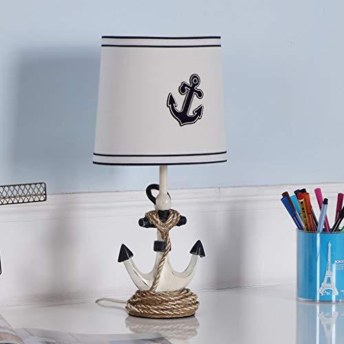 Lampe de table pour enfant de style marin, lampe de chevet pour chambre à coucher, lampe de table décorative pour garçon et fille 39cm