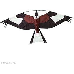 Vogelscheuchen-Drachen, Design: brauner Falke, flacher Drachen im Falken-Design, kann an ausziehbarem Flaggenmast fliegen gelassen lassen Mit Drachenschnur-Vorrichtung. Schützt die Ernten der Bauern.