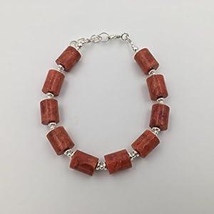 Silber-Armband und Apfel Koralle