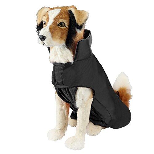 Cappotto impermeabile imbottito per cane cani con strato di rivestimento in nylon facile on e off