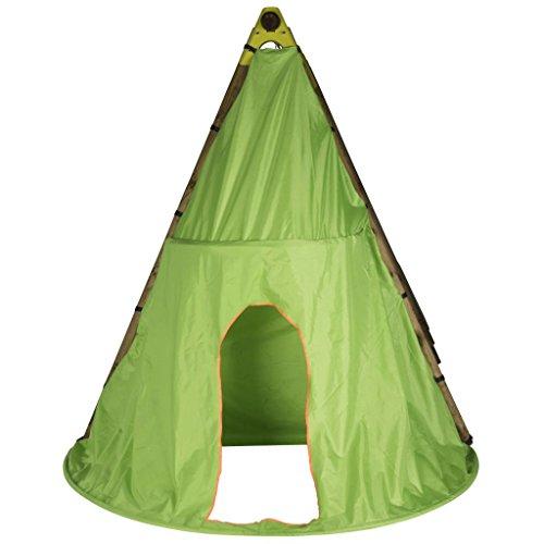 TRIGANO Tente de Jeu Tipi pour Balançoire en Bois 2,3 m Tente d'Indien Enfants