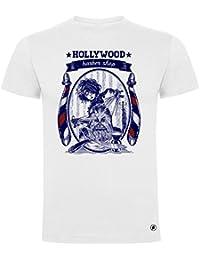 Gaamers Camiseta Divertida Hollywood Barber Shop - Serigrafía
