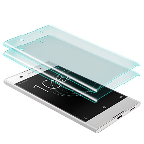 zanasta 2 Stück Bildschirmschutz Glass Sony Xperia XA1 Schutzfolie aus gehärtetem Glas [Vollständige Abdeckung] Screen Protector (3D Full Cover) Transparent