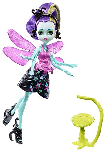 Mattel Monster High FCV48 - Garten-Monsterfreundinnen Insekt Wingrid - Eine Libelle, (Lila High Monster Haare)