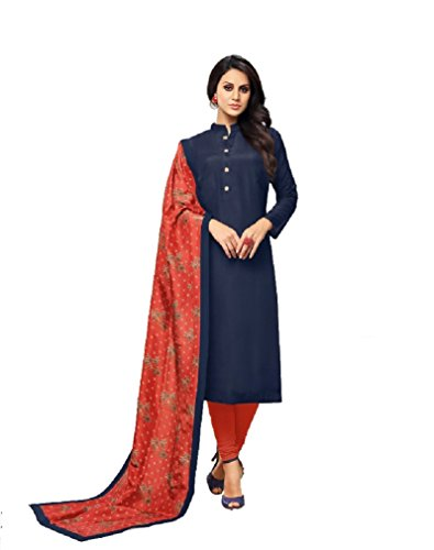 Shree Ganesh Retail Womens Chanderi Cotton With Embroidery Churidar Material   Salwar...