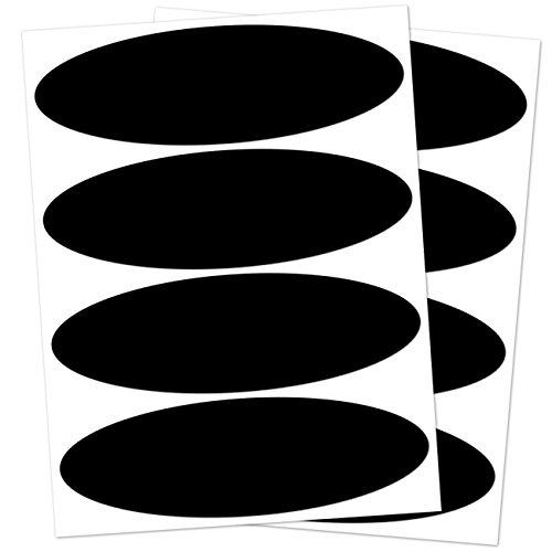 B REFLECTIVE, (2er Pack) 4 Stück Kit retro reflektierende Aufkleber, Nacht Sicherheit Signalisierung Klebeband Reflektor, für Motorradhelme / Motorrad / Motorroller / Fahrrad / Kinderwagen, 8,5 x 2,7 cm Oval, Schwarz