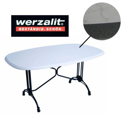 Werzalit Gastro Tischplatte Puntinella/Bianco 146x94 für Bistrotisch