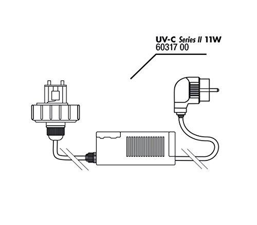 Gehäusedeckel + Vorschaltgerät UV-C 11W -