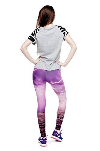 Cats Leggings für Damen/Mädchen, volle Länge, dehnbar, eignet sich für Sport/Laufen Pink Thunder