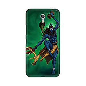 Mobicture Lord Shiva With His Anger Dance Premium Printed High Quality Polycarbonate Hard Back Case Cover for Lenovo Zuk Z1 With Edge to Edge Printing