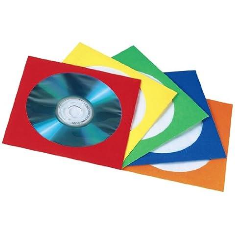 Hama - Fundas para CD/DVD-ROM (50 unidades, papel), colores variados