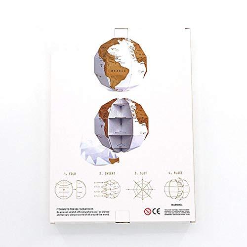 Globo terráqueo de mapa DIY grupo vertical rascador globo global papel de rayar mapa global DIY para planificación de viajes con colores vivos ajustes