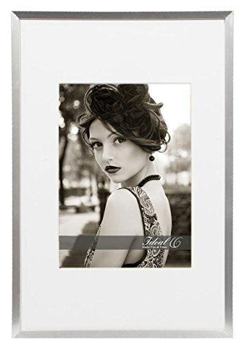 Ideal Trend Style Bilderrahmen 13x18 bis 40x50 Bronze Schwarz Silber Weiß Foto Rahmen: Farbe: Silber | Format: 30x40
