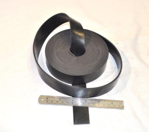 Gummistreifen, 30 mm breit, 3 mm dick, 5 m lang, aus Neopren, Schwarz