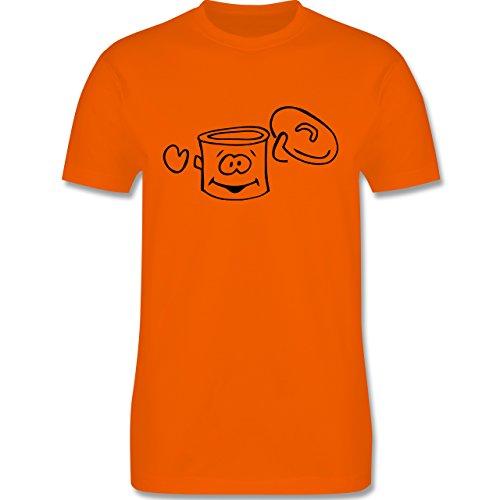 Küche - Kochtopf - Herren Premium T-Shirt Orange