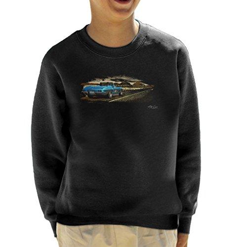 Chevrolet Corvette Stingray Convertible Desert Art Black Kid's Sweatshirt - Sweat-shirt Corvette