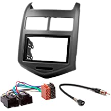 Carav 11 – 181 – 6 – 14 de radio Car de 2 din en Dash Instalación Kit Set for Chevrolet Aveo, Sonic 2011 +/Holden Barina (TM) 2011 + + ISO and Antenna ...