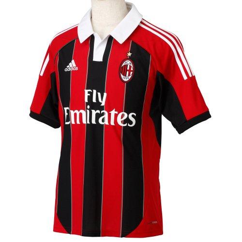 adidas Fußballtrikot AC Milan, schwarz/rot, S, 380100000242 - Milan-bekleidung Ac