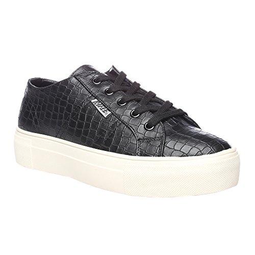 RIFLE Chaussures plates femme avec lacets. mod. 162-W-341-344 Noir