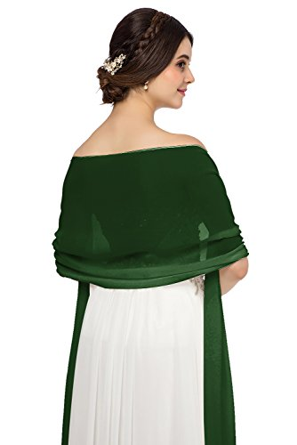 JAEDEN Chiffon Stola Schal f¨¹r Brautkleider Abendkleider Alltagskleidung in Verschiedenen Farben...