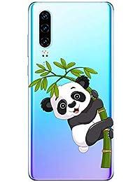 Oihxse Cristal Compatible con Huawei Y7 2019/Y7 Prime 2019/Y7pro 2019 Funda Ultra-Delgado Silicona TPU Suave Protector Estuche Creativa Patrón Panda Protector Anti-Choque Carcasa Cover(Panda A2)