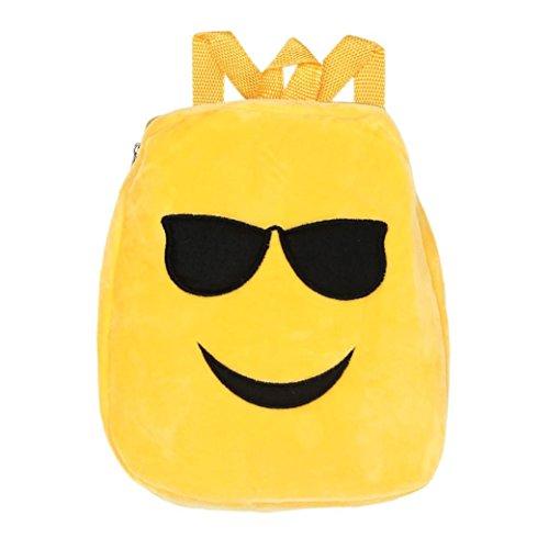 Imagen de goodsatar emoji lindo emoticon hombro escuela  para  infantil bolso de la  de la taleguilla c