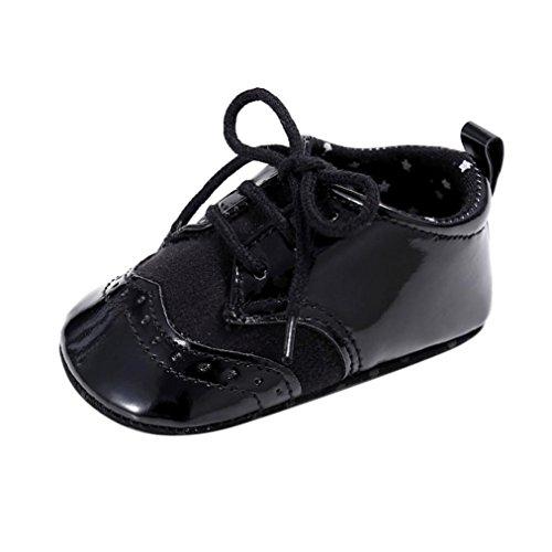 Igemy 1Paar Baby Säugling scherzt Mädchen Jungen weiche alleinige Krippe Kleinkind Neugeborene Schuhe Black