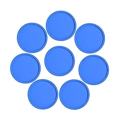Dessous de verre en silicone Lot de 8de table protection pour n'importe quel type de table, bois, Granit, verre, Stéatite, marbre, pierre Tables–pour usage domestique et barre