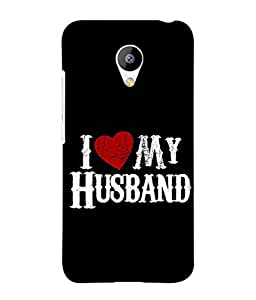 PrintVisa Designer Back Case Cover for Meizu M3 (I love my husband)
