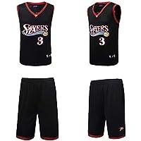 BUY-TO Camiseta de Baloncesto de los Hombres Número 3 Allen Iverson Philadelphia 76ers Personalización