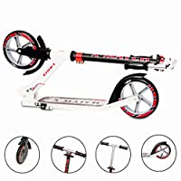 Running Wheels Sporting Limited New (2018) X MATCH Heavy Duty Kick Push steering Scooter with height adjustable handlebar - Small (Red)