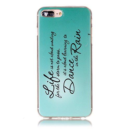 iPhone 7 Plus Hülle, Apple iPhone 7 Plus Hülle, Gift_Source [ Batman ] Schutz-Hülle Silikon TPU transparent ultra-slim Case Cover ultra-thin durchsichtig für Apple iPhone 7 Plus 5.5 inch E1-Regen