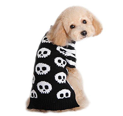 Dorapocket Halloween Traje para mascota, suéter, calavera,...