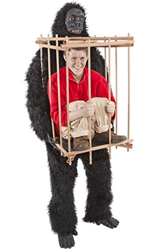 Gorilla & Cage Costume Fancy Dress