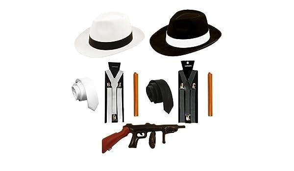 Gangster Bretelles Cravate Chapeau /& cigare années 1920 Costume Années 1920 Pimp robe fantaisie