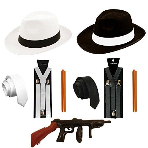 Kostüm Pimp Mens - sowest 1920 Gangster FANTASTISCHES Kleid AL Capone Mafia Pimp Gatsby Costume Mens 30'S