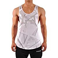 GYMJUNKY Fierce Tanktop Ultra White – Fitness Sleeveless ärmelschulterfrei Entrenamiento Gym Muscles Hirt, Color Ultra White, tamaño Small