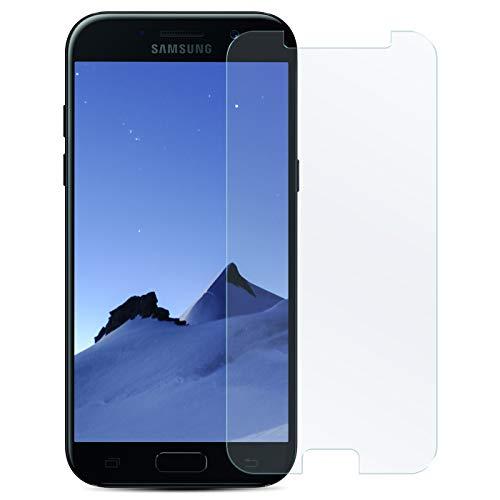 Zhinkarts Bildschirmschutz Panzer Folie für Samsung Galaxy A5 2017 / A520 Bildschirmfolie Panzerglas Echt Glas Schutzglas 9H